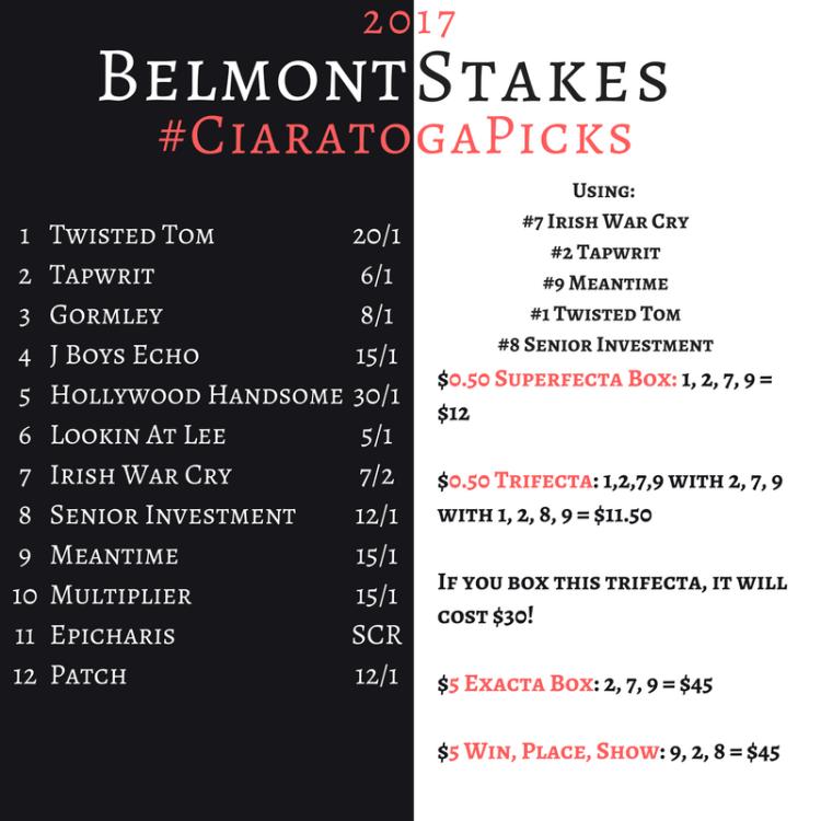 Belmont Stakes #CiaratogaPicks.png